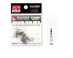 Вертлюг с застежкой KUJIRA 405BN №14 (8шт)