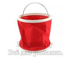 Складное ведро для воды (камуфляжное или красное)  (5л)