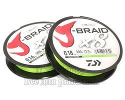 Леска плетеная J-Braid X8 150м 0,06мм chartreuse