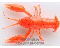 Силиконовая приманка MicroKiller Рачок (3см,упаковка 8 шт) цвет  морковный