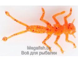Силиконовая приманка MicroKiller Веснянка (3.5см,упаковка 8 шт) цвет  морковный