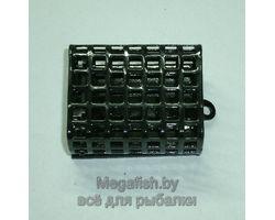 Кормушка  для фидера прямоугольная металлическая 140г