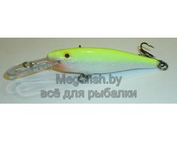 Воблер Rapala  Minnow  Rap 7  (7см 6г 1,2-2,7м) floating цвет SFC (Silver Fluorescent Chartreuse)